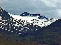 The mountains behind Dalvik